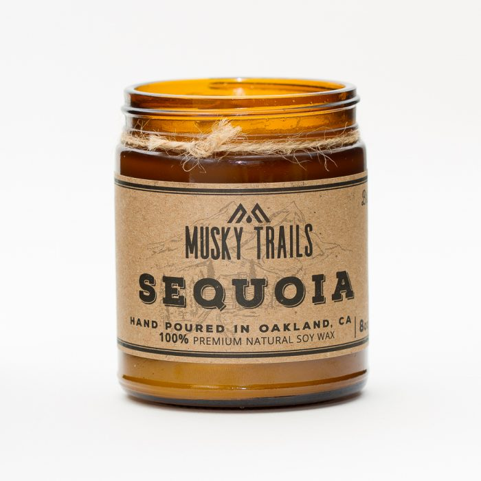 sequoia national park candle 8oz amber jar