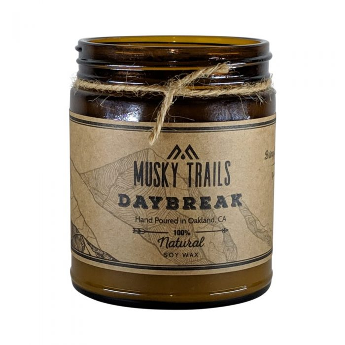 daybreak apothecary candle 8oz amber jar