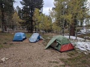 north rim campground snow