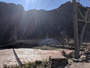 second suspension bridge over Colorado river
