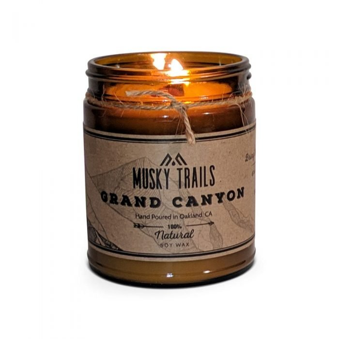 grand canyon national park candle 8oz amber jar lit