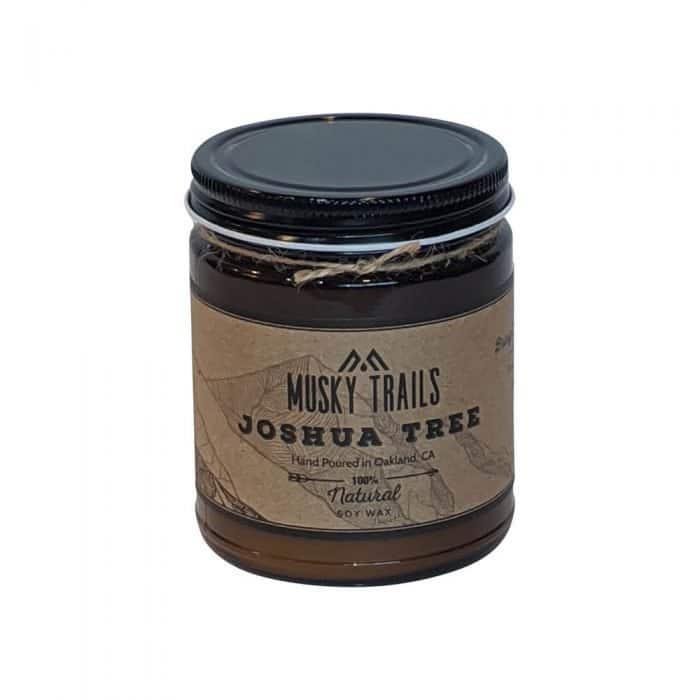 joshua tree national park candle 8oz amber jar lid